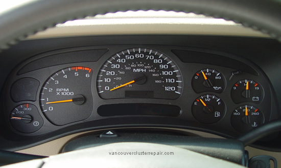 2005 chevy avalanche instrument cluster repair